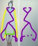 "Titel: ""Gelbe Decke"" / Diptychon / Größe: 2 x (208 x 84) cm Keilrahmen / Leinwand / Acryl"