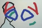 """Title: """"Face No. 5"""" / Size: 120 x 80 cm / acrylic / canvas / stretcher"""