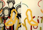 """Titel: """"Beste Freunde"""" / Diptychon / Größe: 2 x (175 x 100) cm / Acryl / Leinwand / Keilrahmen"""