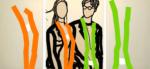 """Titel: """"Junges Paar I"""" / Triptychon / Größe: 1x (120 x 100) cm + 2 x (120 x 75) cm / Acryl / Leinwand / Keilrahmen"""
