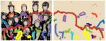 "Title: ""Peer Group-Kids"" Diptych / Size: 2 x (190 x 150) cm acrylic / canvas / stretcher"