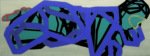 """Title: """"On a greenfield site"""" / Height: 160 x 60 cm / acrylic / canvas / stretcher"""