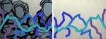 "Titel: ""Drei Kids sitzend"" / Größe: Diptychon - 2 x (150 x 110) cm / Acryl auf Leinwand-Keilrahmen"