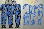 "Title: ""Peergroup_Friends"" / diptych / Size: 2 x (150 x 110) cm / acrylic / canvas / stretcher"