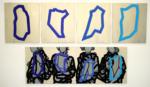 """Title: """"Wanderer"""" / Size: 1 x (180 x 65) cm + 4 x (70 x 60) cm / acrylic / canvas / stretcher"""