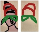 "Title: ""powerlessness"" / size: Diptych 2 x (120 x 70) cm / acrylic / canvas / stretcher"