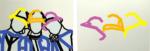 "Title: ""girlfriends"" / size: Diptych 2 x (115 x 80) cm / acrylic / canvas / stretcher"